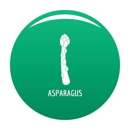 Asparagus icon vector green Ilustracje wektorowe
