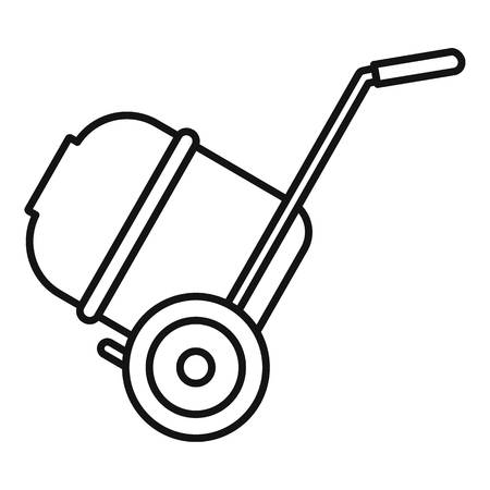 Concrete mixer icon. Outline concrete mixer vector icon for web design isolated on white background