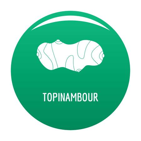Topinambour icon vector green