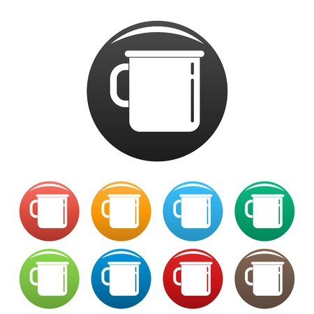 Metal cup icons set 9 color vector isolated on white for any design Vektorgrafik