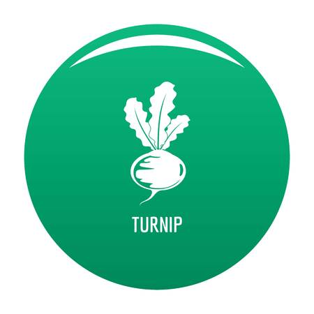 Turnip icon vector green