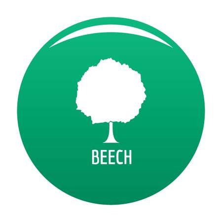 Beech tree icon. Simple illustration of beech tree vector icon for any design green Ilustración de vector