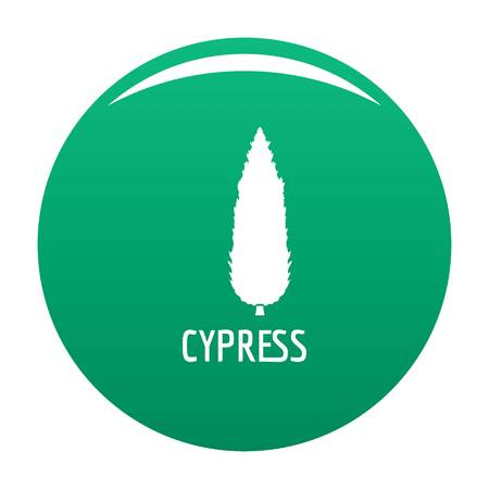 Cypress tree icon. Simple illustration of cypress tree vector icon for any design green Ilustracja