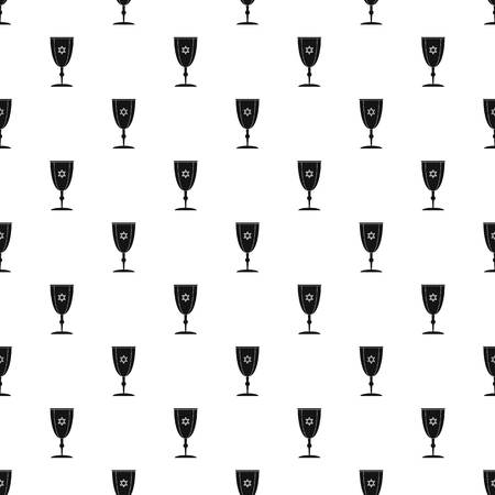Judaism cup pattern seamless vector Stock Illustratie