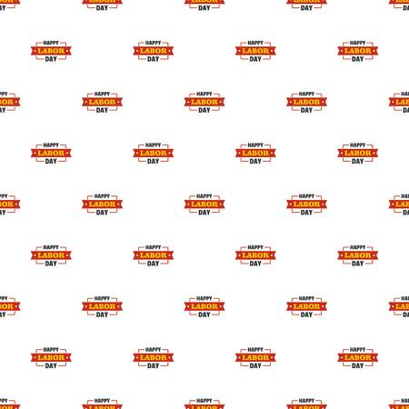 Labor day happy pattern seamless vector