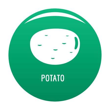 Potato icon vector green Illustration