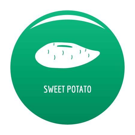 Sweet potato icon vector green