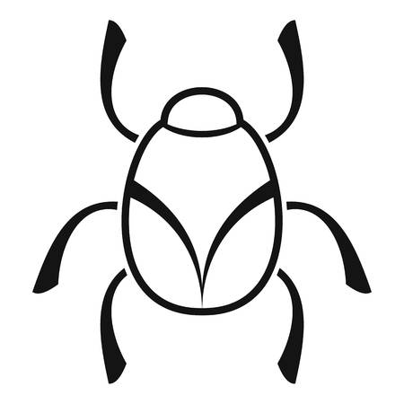 Golden bug icon, simple style Banque d'images - 114182548