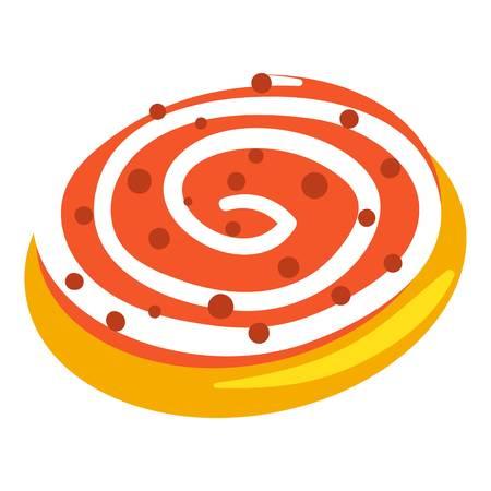 Jewish candy bakery icon, cartoon style