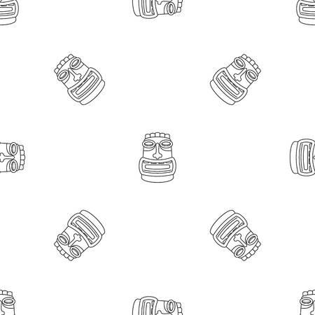 Tiki idol mask pattern seamless