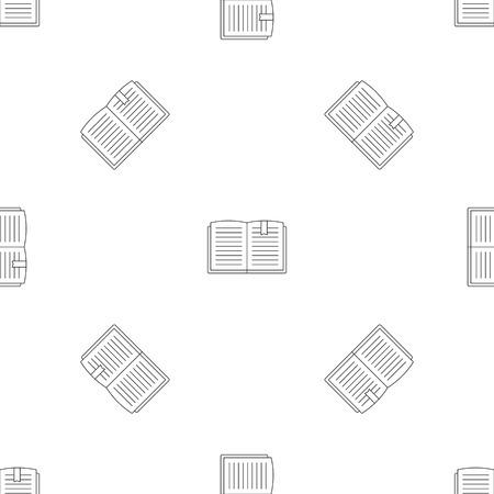 Open book pattern seamless