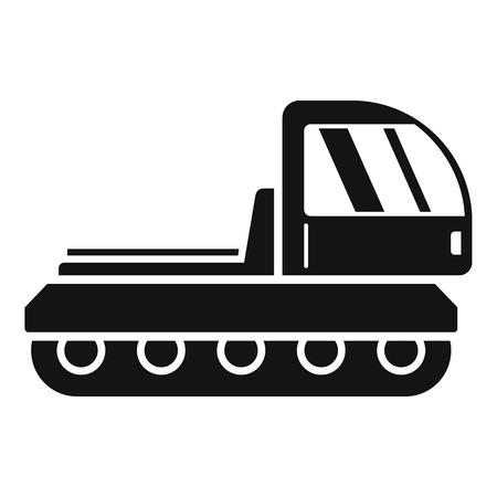 Mountain snowcat icon, simple style