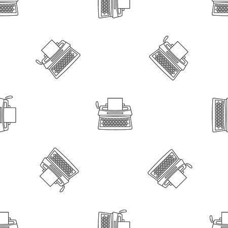 Vintage typewriter icon, outline style Stock Photo