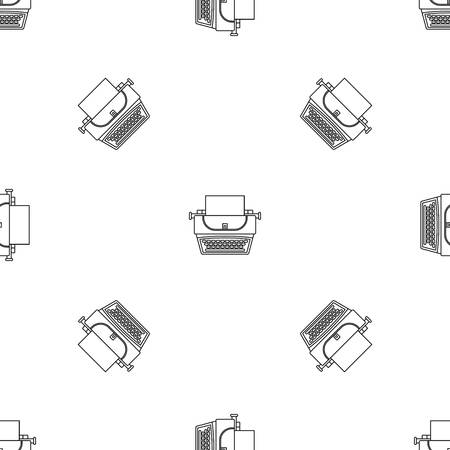Soviet typewriter icon, outline style
