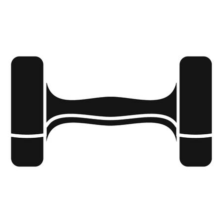Dumbell icon. Simple illustration of dumbell icon for web design isolated on white background