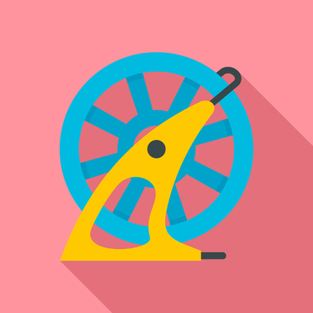 Hose wheel pool icon. Flat illustration of hose wheel pool icon for web design Banque d'images