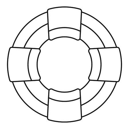 Lifebuoy icon. Outline lifebuoy icon for web design isolated on white background