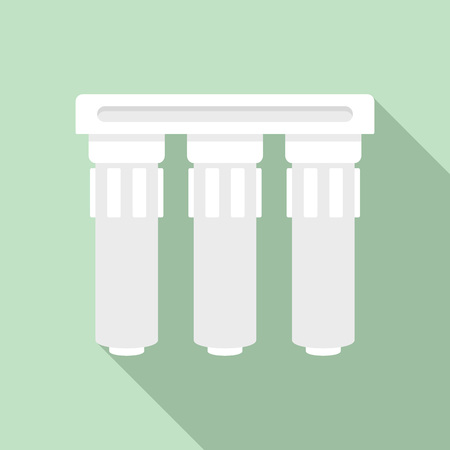 Triple water filtration icon. Flat illustration of triple water filtration icon for web design