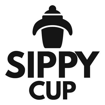 Kid sippy cup logo. Simple illustration of kid sippy cup logo for web design isolated on white background