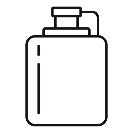 Hip flask icon. Outline hip flask icon for web design isolated on white background Stok Fotoğraf