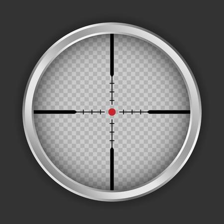 Crosshair sniper icon. Realistic illustration of crosshair sniper icon for web design