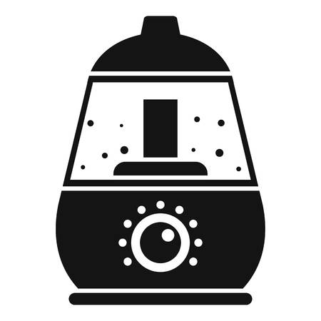 Room humidifier icon. Simple illustration of room humidifier icon for web design isolated on white background