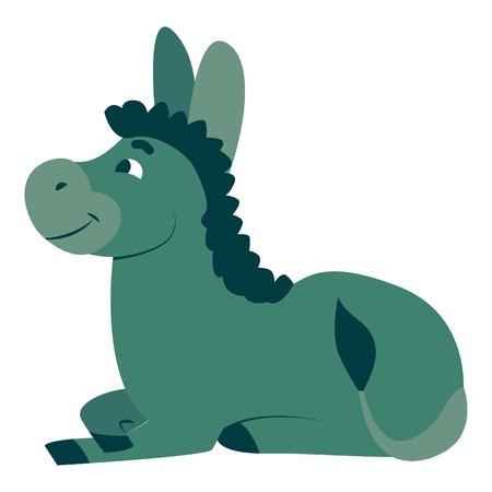 Donkey icon, cartoon style