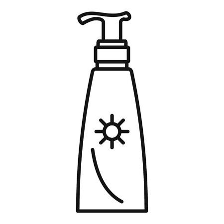 Travel dispenser sunscreen icon. Outline travel dispenser sunscreen vector icon for web design isolated on white background