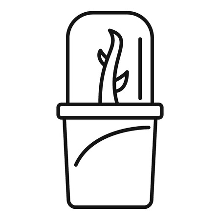 Glas-Blumentopf-Symbol, Umriss-Stil