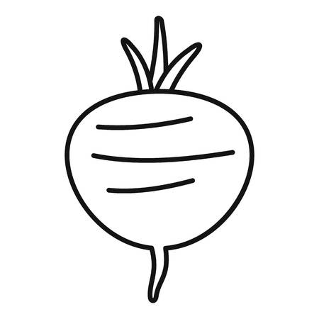 Beetroot icon, outline style