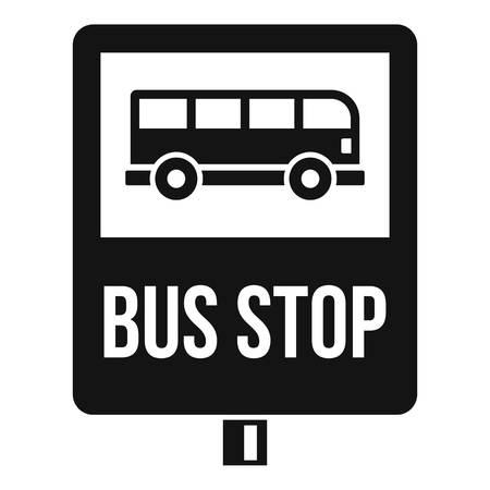 Bushaltestelle-Verkehrszeichen-Symbol. Einfache Illustration der Bushaltestelle-Verkehrszeichen-Vektorikone für das Webdesign lokalisiert auf weißem Hintergrund