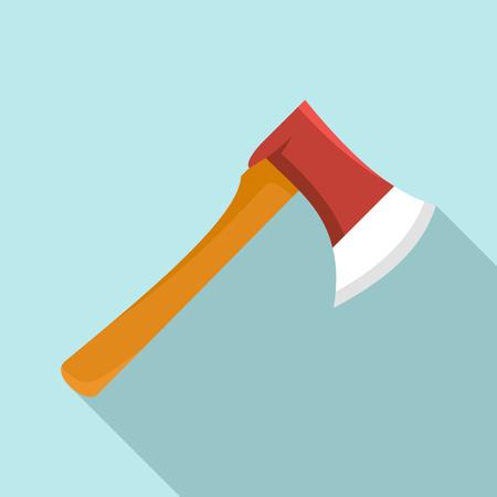 Home axe icon. Flat illustration of home axe vector icon for web design