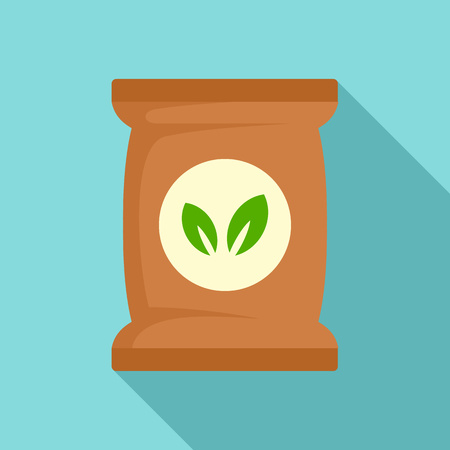 Seed plant pack icon. Flat illustration of seed plant pack vector icon for web design Illustration