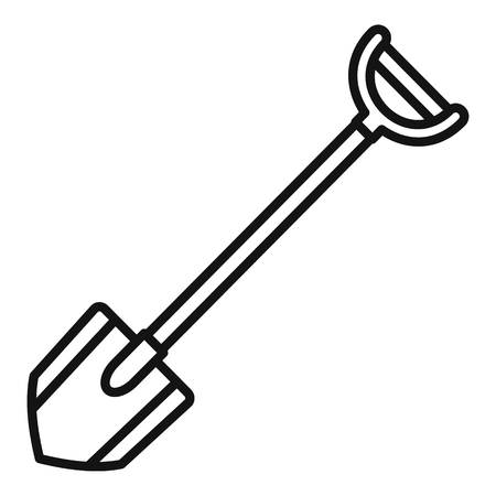 Shovel icon. Outline shovel vector icon for web design isolated on white background