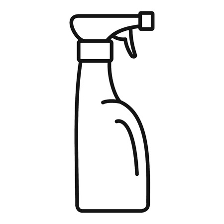 Spray bottle icon. Outline spray bottle vector icon for web design isolated on white background