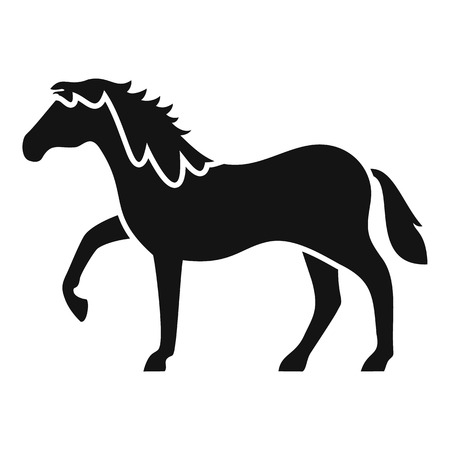 Riding horse icon. Simple illustration of riding horse vector icon for web design isolated on white background Çizim