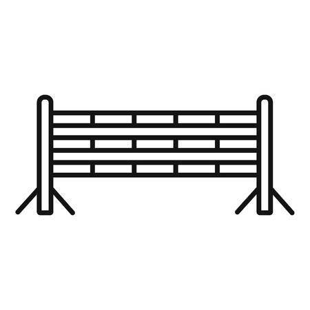 Horse jump obstacle icon, outline style