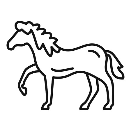 Riding horse icon. Outline riding horse vector icon for web design isolated on white background