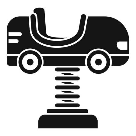 Kid car spring icon. Simple illustration of kid car spring vector icon for web design isolated on white background