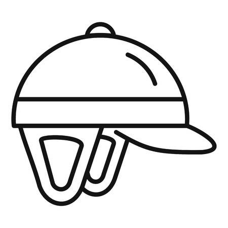 Horseback riding helmet icon. Outline horseback riding helmet vector icon for web design isolated on white background