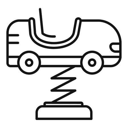 Kid car spring icon. Outline kid car spring vector icon for web design isolated on white background
