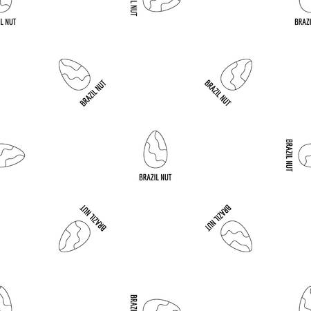 Brazil nut icon. Outline illustration of brazil nut vector icon for web design isolated on white background