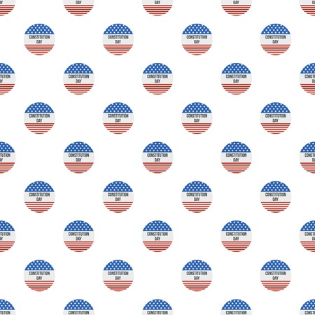 American flag constitution day pattern seamless vector Illustration