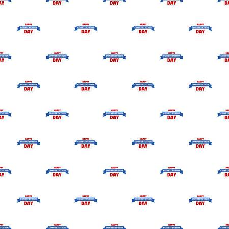 Constitution day pattern seamless vector