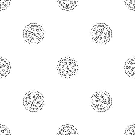 Sweet creme biscuit icon. Outline illustration of sweet creme biscuit vector icon for web design isolated on white background 일러스트