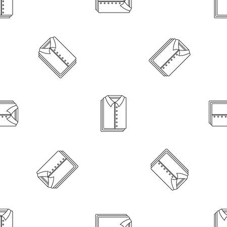 Clean shirts icon. Outline illustration of clean shirts vector icon for web design isolated on white background