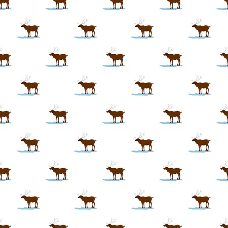Alaska deer pattern seamless vector repeat for any web design Illustration