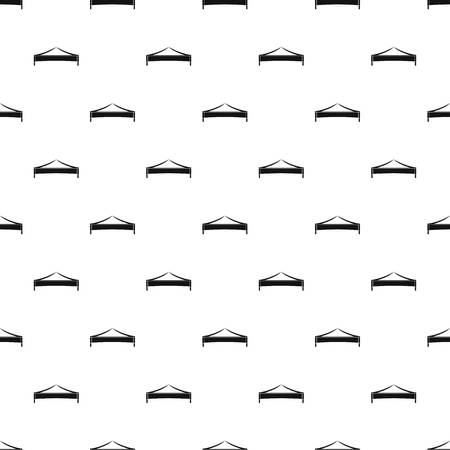 Folding tent pattern seamless vector repeat geometric for any web design