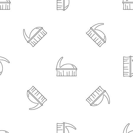 Clothes brush icon. Outline illustration of clothes brush vector icon for web design isolated on white background