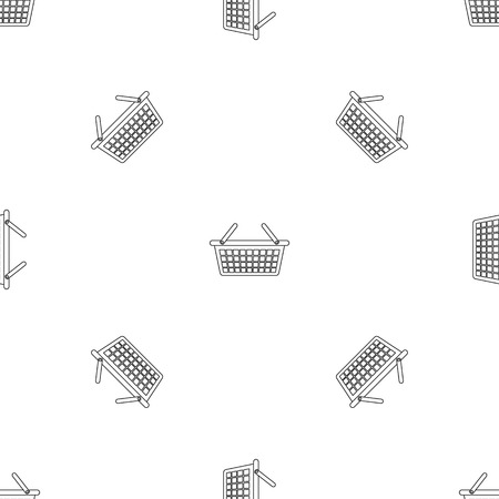 Clothes basket icon. Outline illustration of clothes basket vector icon for web design isolated on white background